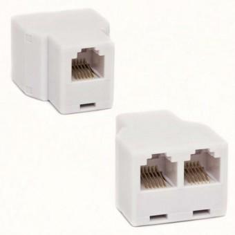 Adapter 6P6C aljzat/2*6P6C aljzat (fehér)