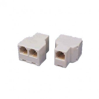 Adapter 6P6C aljzat/2*6P6C aljzat (krém)
