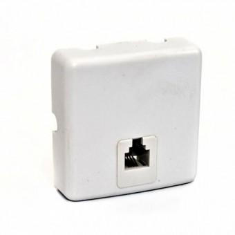 Telefonkábel fali csatlakozó 6P4C 01-0200 (fehér)