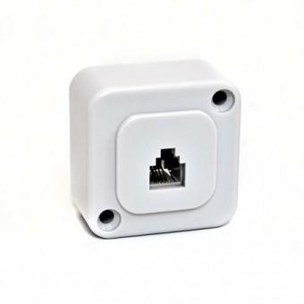 Telefonkábel fali csatlakozó mini 6P4C 01-0210 (fehér)