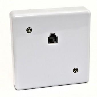 Telefonkábel fali csatlakozó mini 01-0211 (fehér)