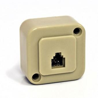 Telefonkábel fali csatlakozó mini 6P4C 01-0220 (krém)