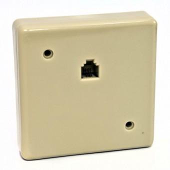 Telefonkábel fali csatlakozó mini 6P4C 01-0221 (krém)