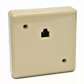 Telefonkábel fali csatlakozó mini 6P6C 01-0222 (krém)