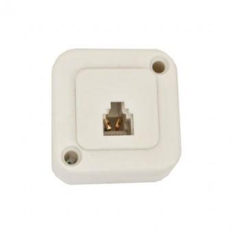 Telefonkábel fali csatlakozó mini 6P6C 01-0225 (krém)