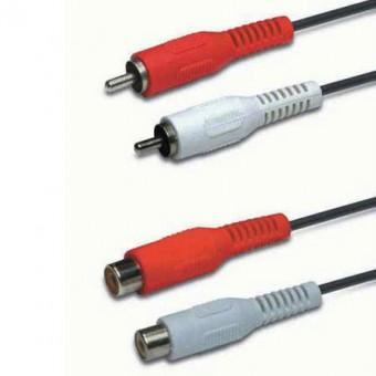 2RCA dugó - 2RCA aljzat kábel 2.5M