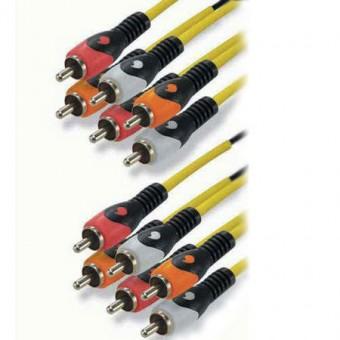 6RCA - 6RCA 5.1 kábel HQ 2M