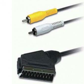 SCART - 2RCA dugó VIDEO kábel 1.5M