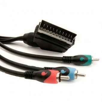 SCART - 3RCA kábel 2M