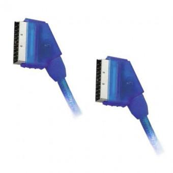 SCART kábel dugó - dugó HQ kék 10.5MM 1.5