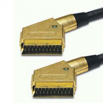 SCART dugó - dugó HQ 24K GOLD kábel 1.5M