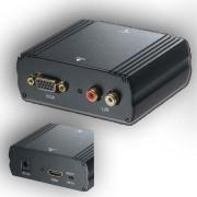 HDMI - VGA + RL AUDIO konverter