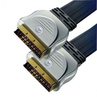 HT SCART - SCART GOLD lapos kábel 1.5M