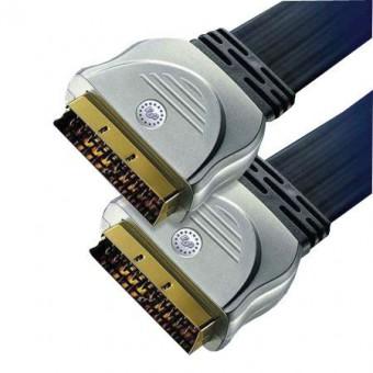 HT SCART - SCART GOLD lapos kábel 3M