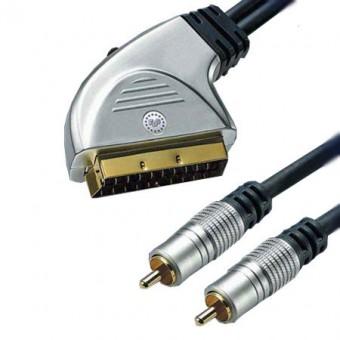 HT SCART - 2RCA GOLD kábel 3M