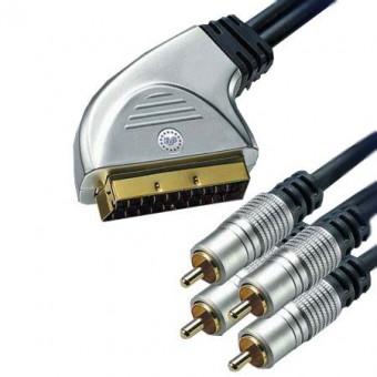 HT SCART - 4RCA GOLD kábel 1.5M