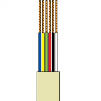 Telefonkábel 6 szálas szürke100M henger