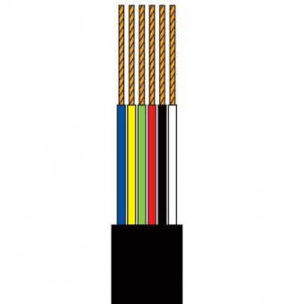Telefonkábel 6 szálas fekete 100M henger