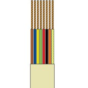 Telefonkábel 8 szálas szürke 100M henger