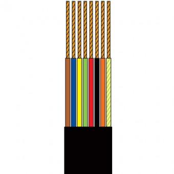 Telefonkábel 8 szálas fekete 100M henger