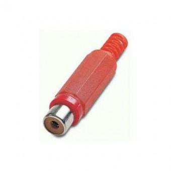 RCA jack aljzat EDC (piros)