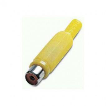 RCA jack aljzat EDC (sárga)