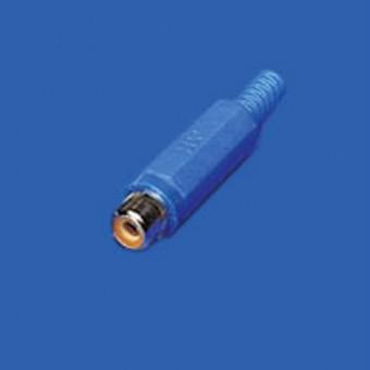 RCA jack aljzat EDC (kék)