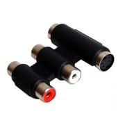SVHS adapter + 2RCA aljzat - SVHS + 2RCA dugó