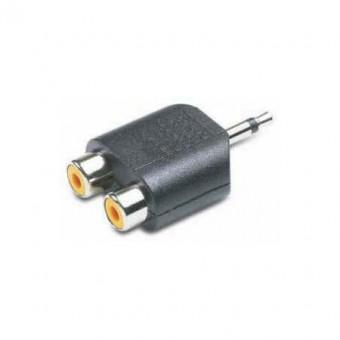 3.5 MO dugó - 2xRCA aljzat adapter