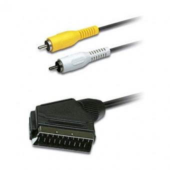 SCART kábel dugó - 2X RCA dugó 1.5M HEADER ED