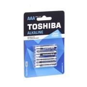 Alkáli elem LR3 AAA 4 db bliszter TOSHIBA