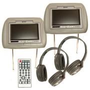 7 inches TFT monitoros fejtámla 2 db. + DVD + fejhallgató