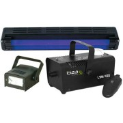 Diszkó szett (füstgép + UV neon + LED stroboszkóp)
