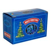 Karácsonyfafüzér 144 kék LED, színes