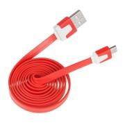 Lapos micro USB kábel piros