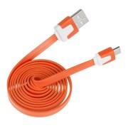 Lapos micro USB kábel narancs