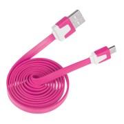 Lapos micro USB kábel rózsaszín