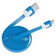 Lapos Micro USB kábel kék