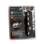 Szivargyújtó splitter X4 USB