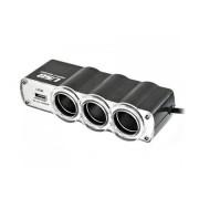 Szivargyújtó splitter X3 USB