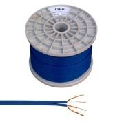 Kábel 2RCA-3mm, kék