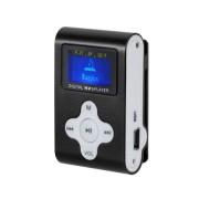 MP3 lejátszó, diktafon, FM rádió LCD kijelzovel, fekete
