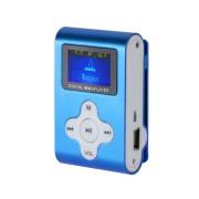 MP3 lejátszó, diktafon, FM rádió LCD kijelzovel, kék