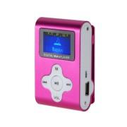 MP3 lejátszó, diktafon, FM rádió LCD kijelzovel, pink