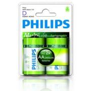 Philips - R20B2A245/10 MULTILIFE® 2db R20 adapter + 2db R6 (AA) akkumulátor 2450mAh