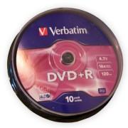 DVD+R VERBATIM 4,7GB 16X CAKE 10db.