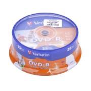 DVD-R VERBATIM 4,7 GB 16X PRINTABLE 25 db.