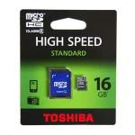 TOSHIBA MicroSD memória kártya 16 GB SD átalakítóval