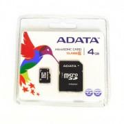 ADATA MicroSD memória kártya 4 GB SD átalakítóval