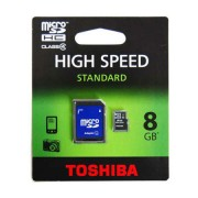 MicroSD kártya adapterrel 8GB TOSHIBA
